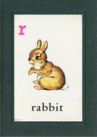 R is for Rabbit - PLYMOUTH CARD COMPANY  - 2
