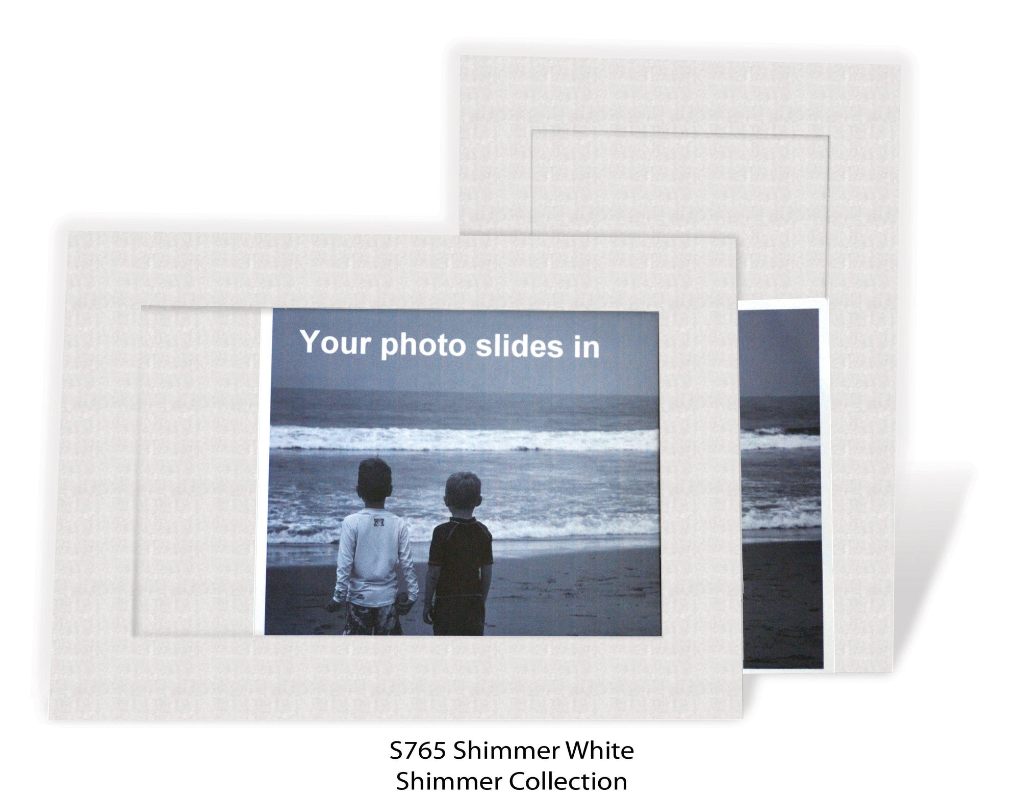 Shimmer White #S765 (textured)-Photo note cards-Plymouth Cards