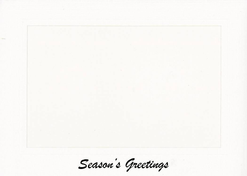 Season's Greetings Ink Printed Photo Note Cards