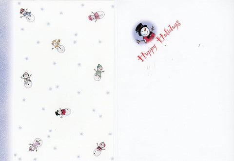 "Snowmen ""Happy Holidays"" Photo Greeting Card - PLYMOUTH CARD COMPANY  - 2"