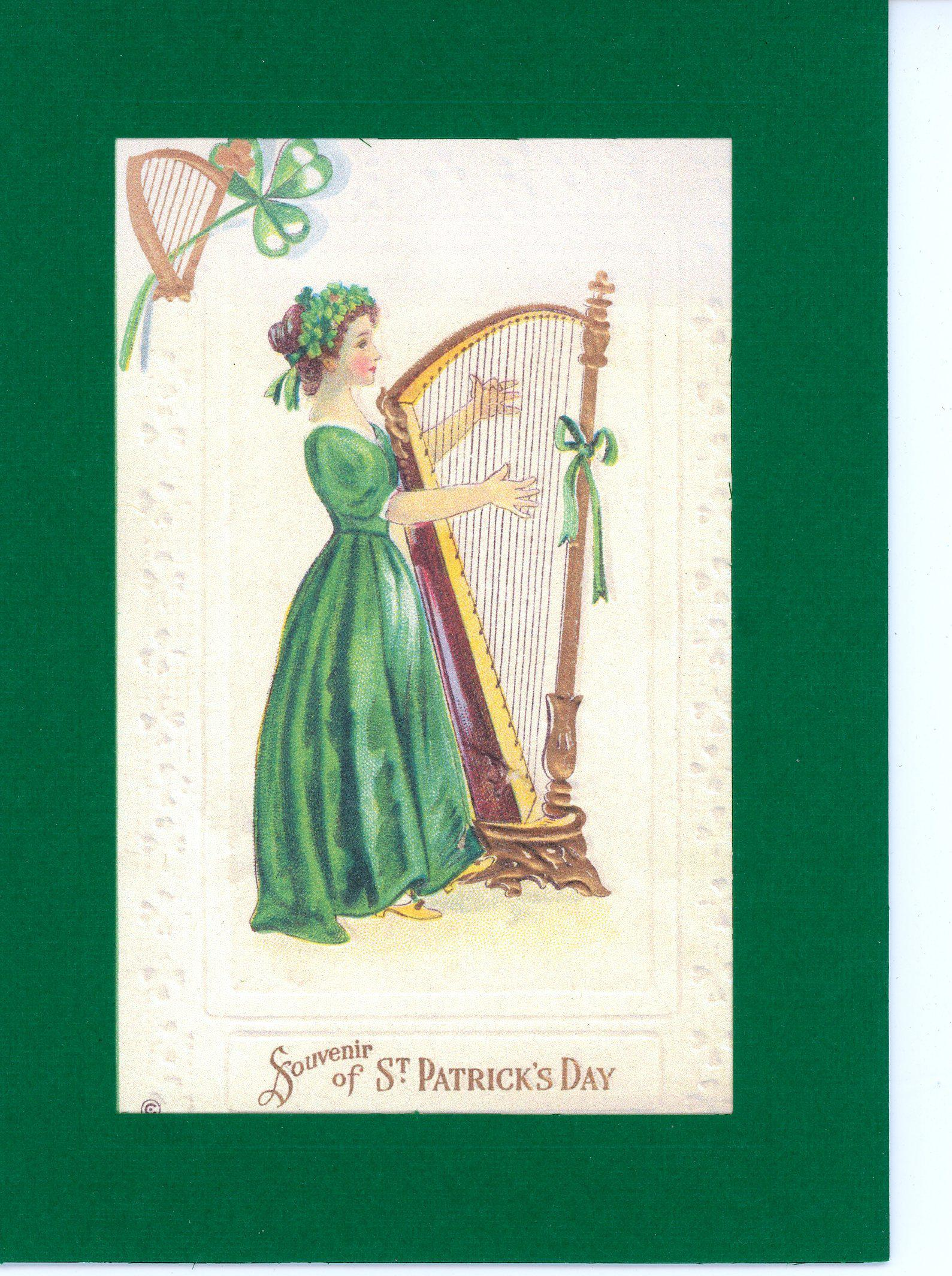 St. Patrick's Day ~ Souvenir-Greetings from the Past-Plymouth Cards
