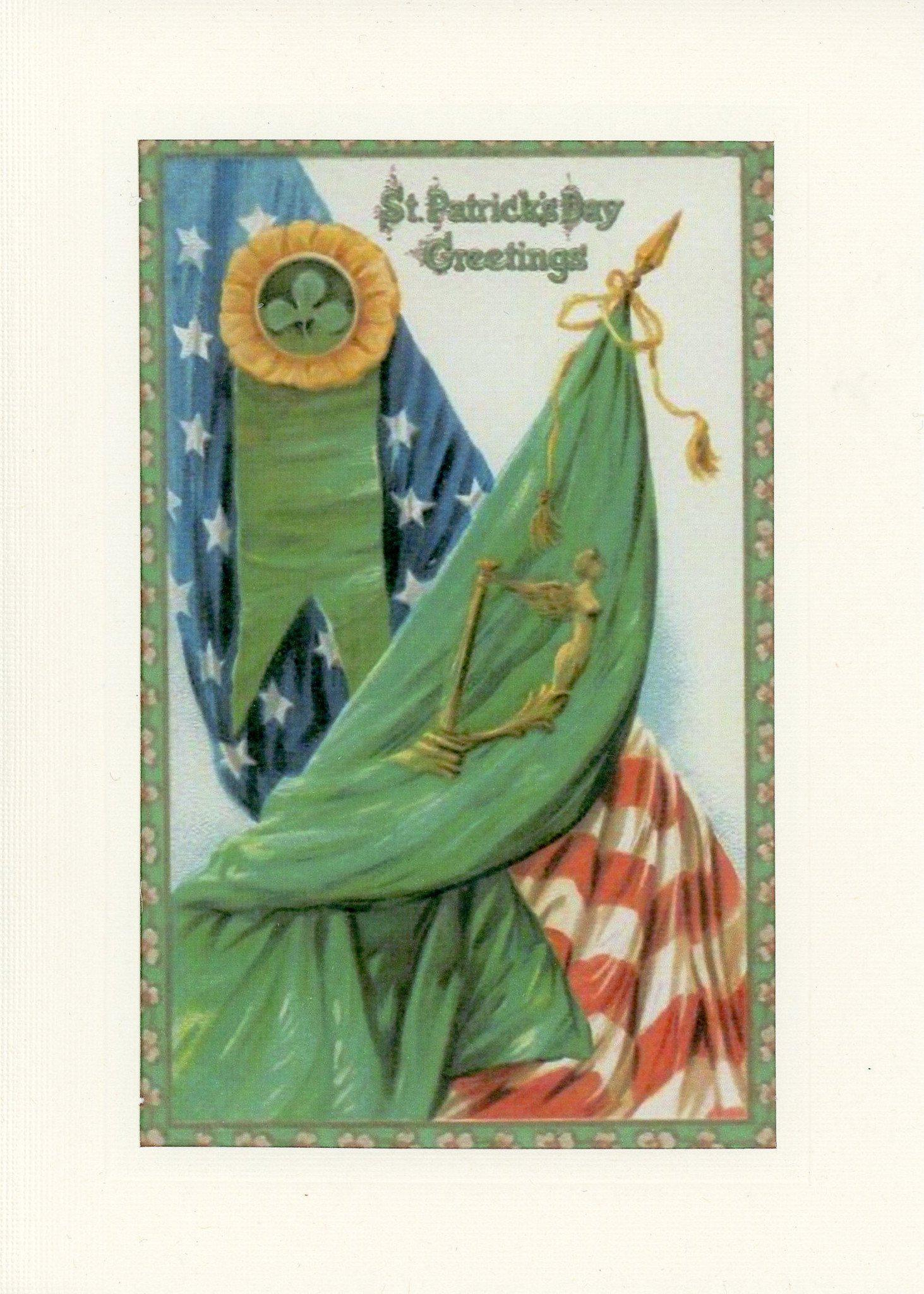 Patriotic St. Patrick's Day-Greetings from the Past-Plymouth Cards