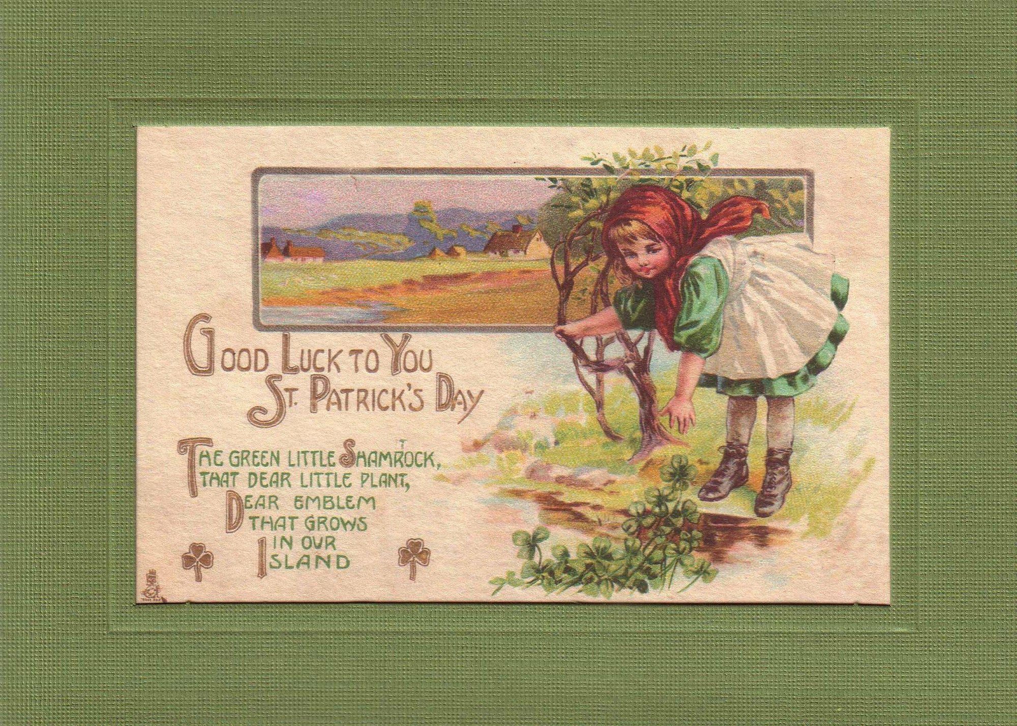 St. Patrick's Day ~ Good Luck-Greetings from the Past-Plymouth Cards