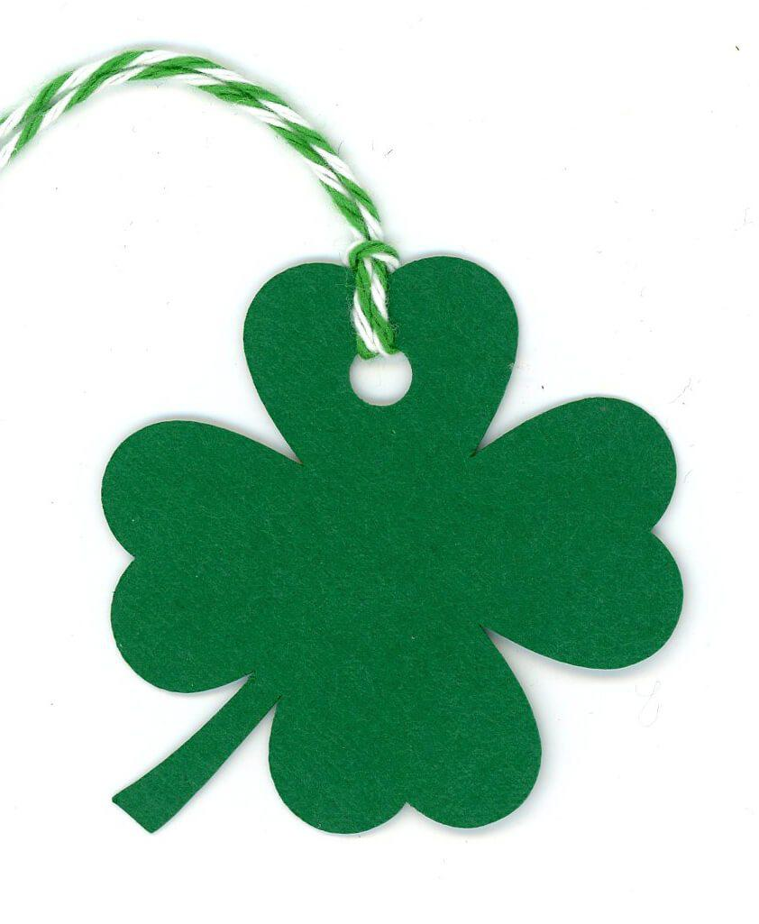 Four Leaf Clover shamrock-Gift Tags-Plymouth Cards