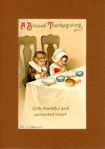 "Thanksgiving ""Greetings from the Past"" Sampler - PLYMOUTH CARD COMPANY  - 2"