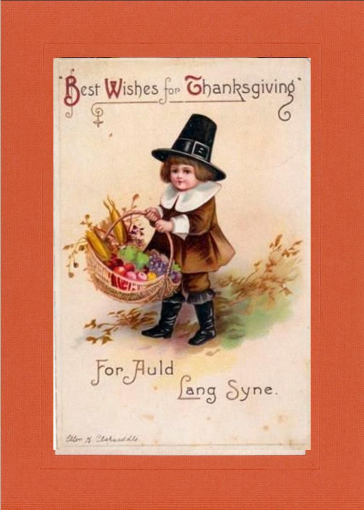 Best Wishes for Thanksgiving-Greetings from the Past-Plymouth Cards