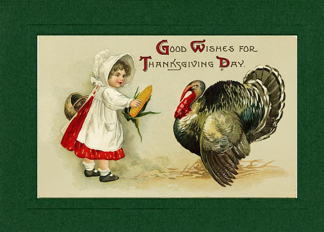 Good Wishes for Thanksgiving Day-Greetings from the Past-Plymouth Cards