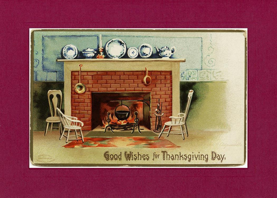 Good Wishes for Thanksgiving Day!-Greetings from the Past-Plymouth Cards