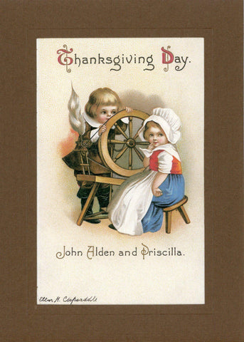 "Thanksgiving ""Greetings from the Past"" Sampler - PLYMOUTH CARD COMPANY  - 3"