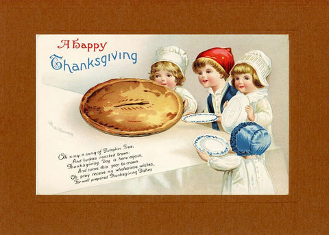 A Happy Thanksgiving pie - PLYMOUTH CARD COMPANY