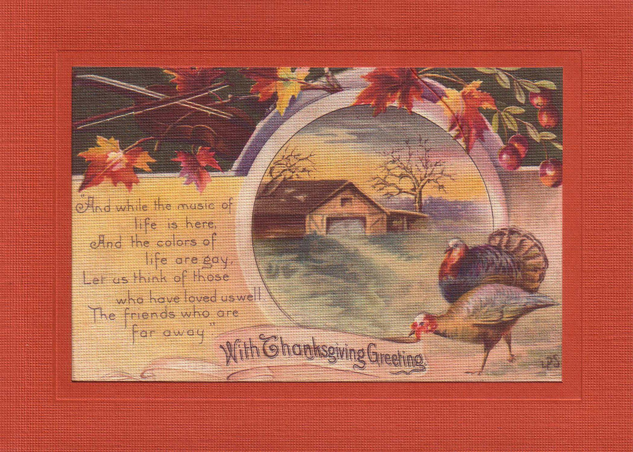 With Thanksgiving Greeting - PLYMOUTH CARD COMPANY