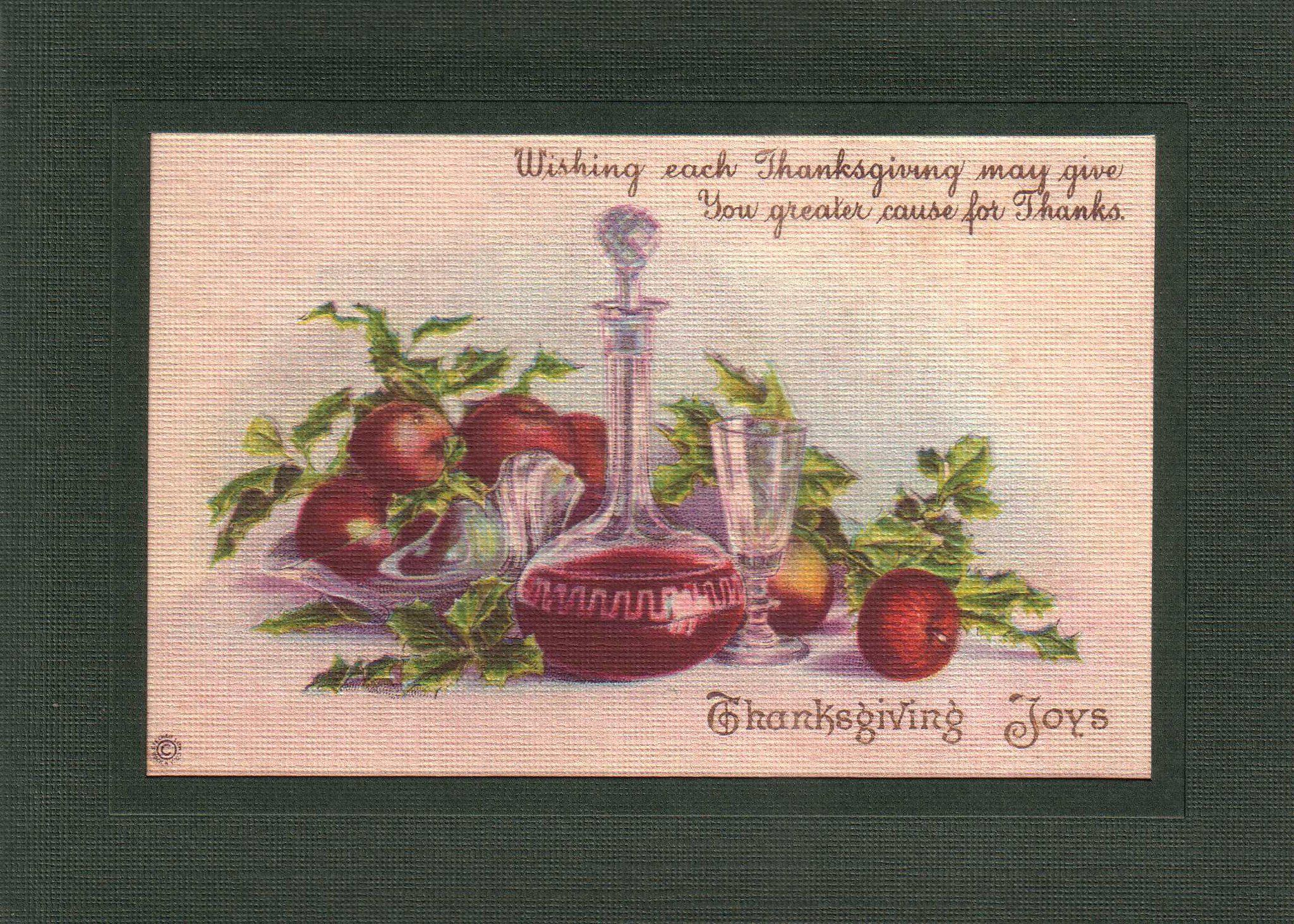 Thanksgiving Joys-Greetings from the Past-Plymouth Cards