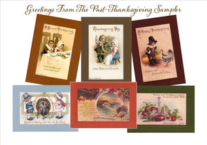 "Thanksgiving ""Greetings from the Past"" Sampler - PLYMOUTH CARD COMPANY  - 1"