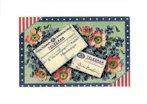 "Patriotic All Holidays ""Greetings from the Past"" Sampler - PLYMOUTH CARD COMPANY  - 8"