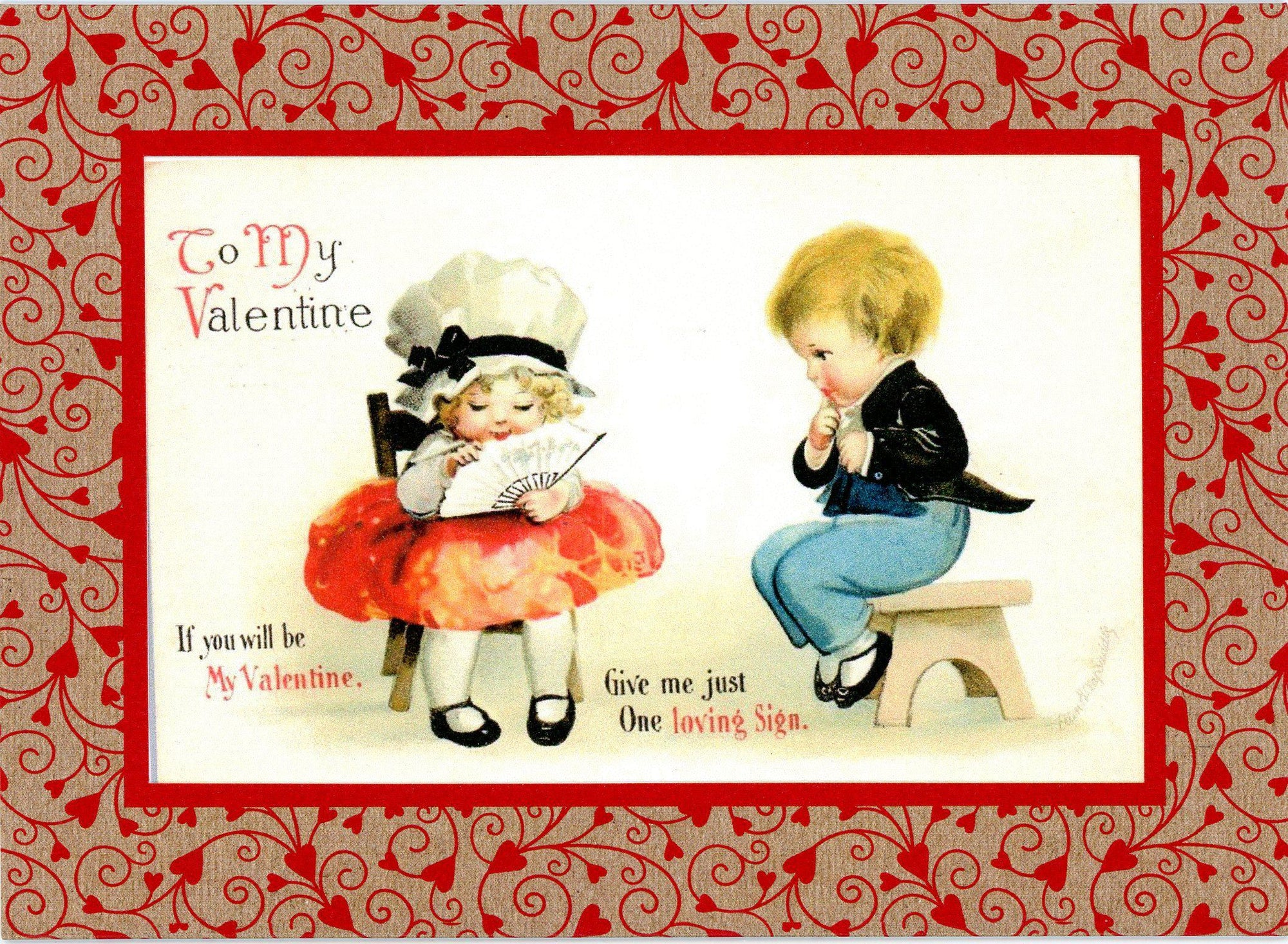If You Will Be My Valentine-Greetings from the Past-Plymouth Cards