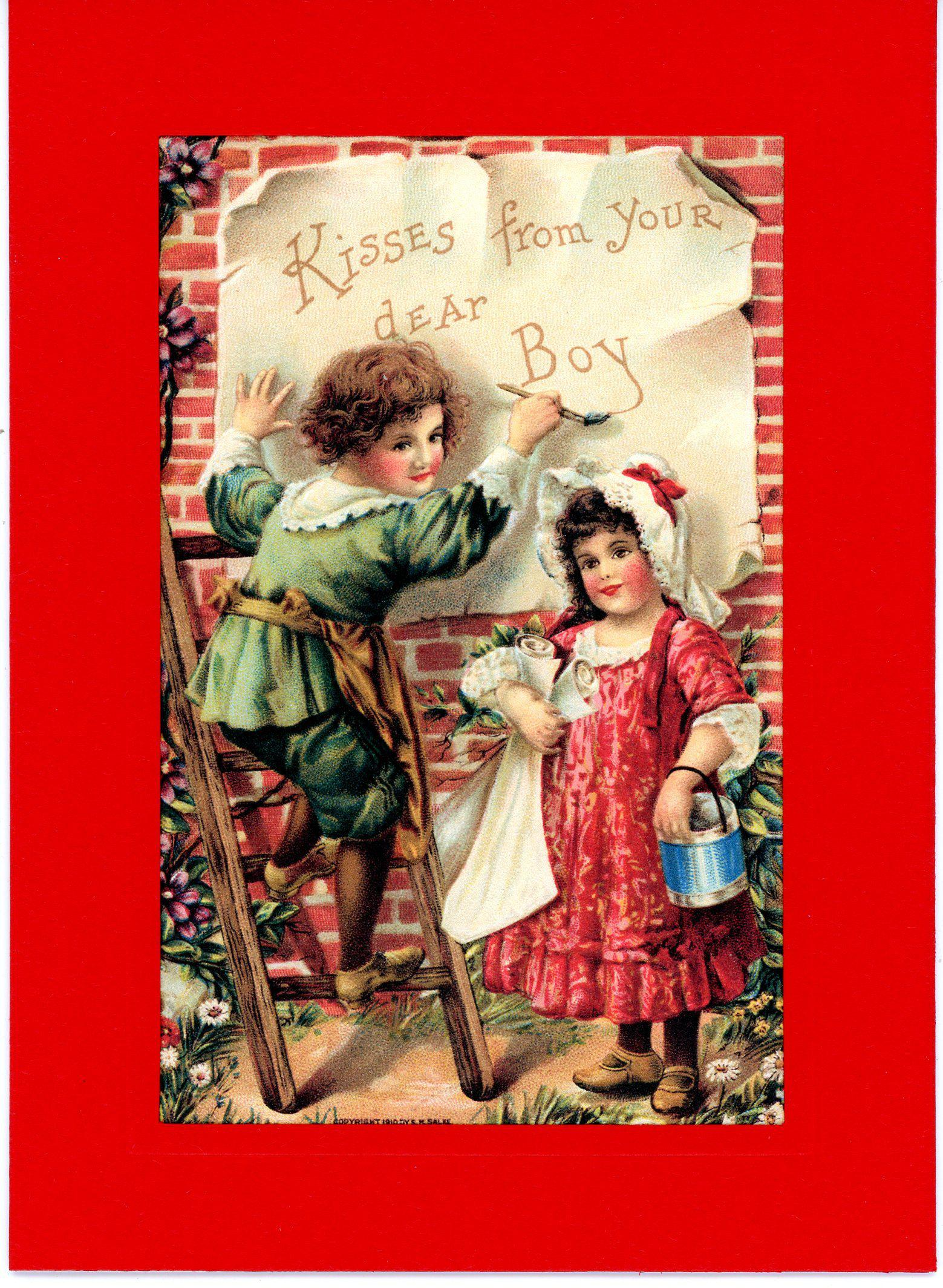 Kisses from Your Dear Boy-Greetings from the Past-Plymouth Cards