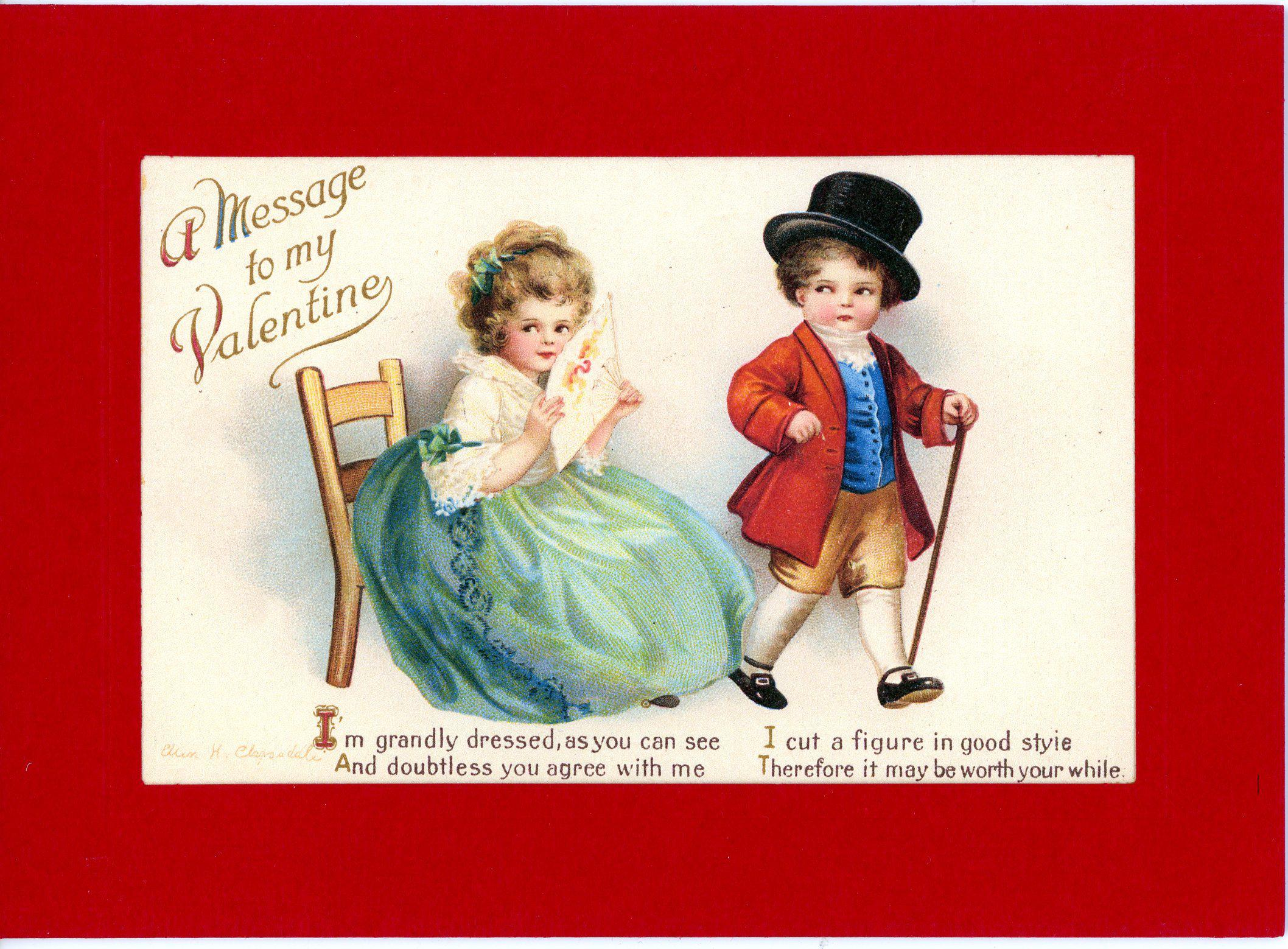A Message to my Valentine-Greetings from the Past-Plymouth Cards