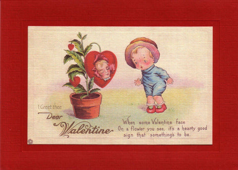 I Greet Thee Dear Valentine - PLYMOUTH CARD COMPANY