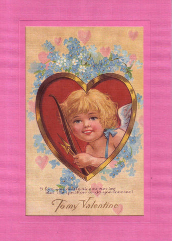 "Valentine ""Greetings from the Past"" Sampler - PLYMOUTH CARD COMPANY  - 5"
