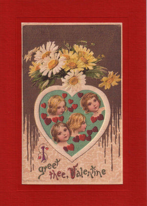 Valentine Greet Thee - PLYMOUTH CARD COMPANY  - 1