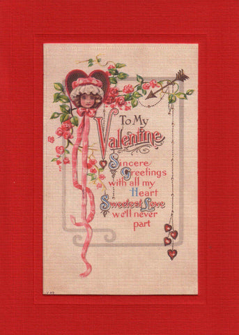 "Valentine ""Greetings from the Past"" Sampler - PLYMOUTH CARD COMPANY  - 6"