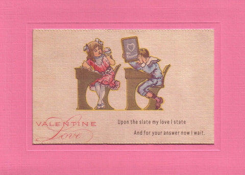 "Valentine ""Greetings from the Past"" Sampler - PLYMOUTH CARD COMPANY  - 7"