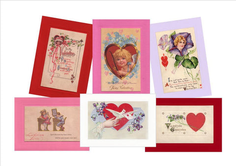 "Valentine ""Greetings from the Past"" Sampler - PLYMOUTH CARD COMPANY  - 1"