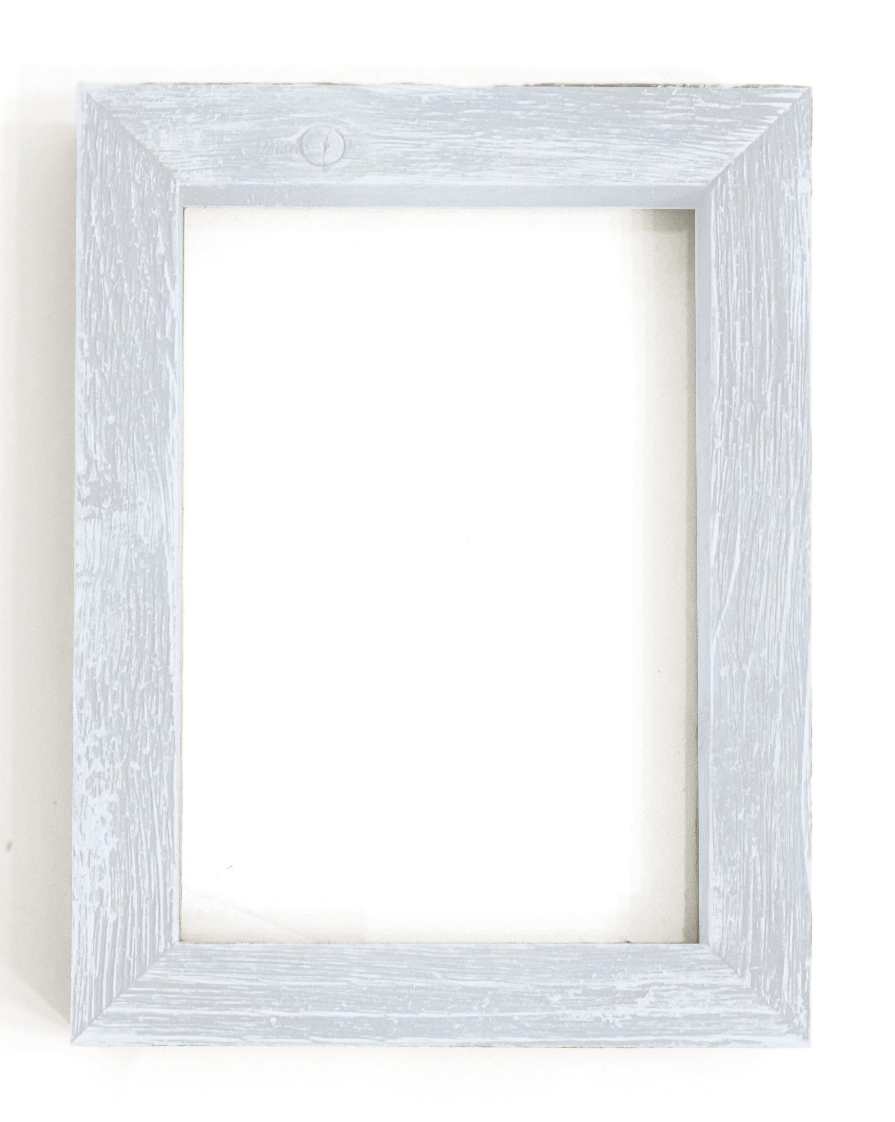 White Rustic Picture Frame-Plymouth Cards