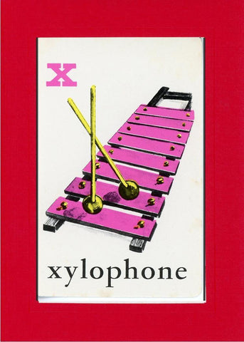 X is for Xylophone - PLYMOUTH CARD COMPANY  - 6