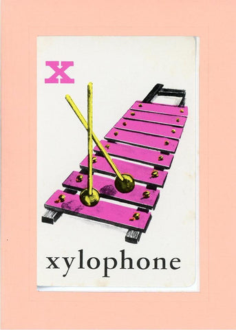 X is for Xylophone - PLYMOUTH CARD COMPANY  - 26