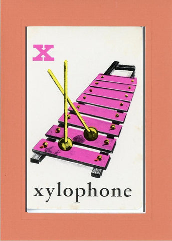 X is for Xylophone - PLYMOUTH CARD COMPANY  - 18