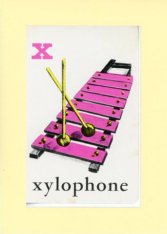 X is for Xylophone - PLYMOUTH CARD COMPANY  - 33