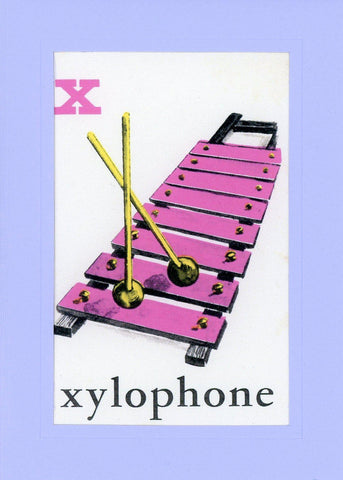 X is for Xylophone - PLYMOUTH CARD COMPANY  - 1