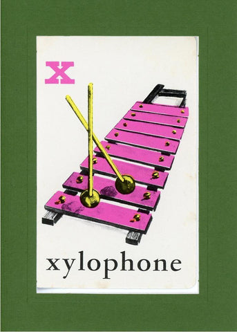 X is for Xylophone - PLYMOUTH CARD COMPANY  - 9