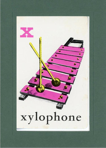X is for Xylophone - PLYMOUTH CARD COMPANY  - 20