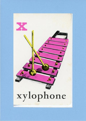 X is for Xylophone - PLYMOUTH CARD COMPANY  - 30