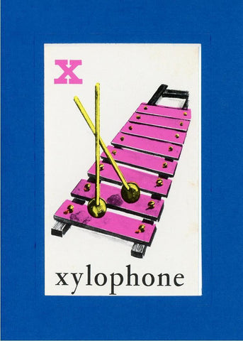 X is for Xylophone - PLYMOUTH CARD COMPANY  - 25