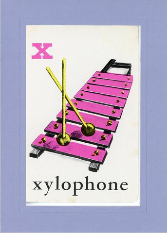 X is for Xylophone - PLYMOUTH CARD COMPANY  - 17