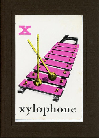 X is for Xylophone - PLYMOUTH CARD COMPANY  - 12