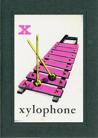 X is for Xylophone - PLYMOUTH CARD COMPANY  - 2