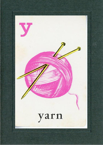 Y is for Yarn - PLYMOUTH CARD COMPANY  - 2