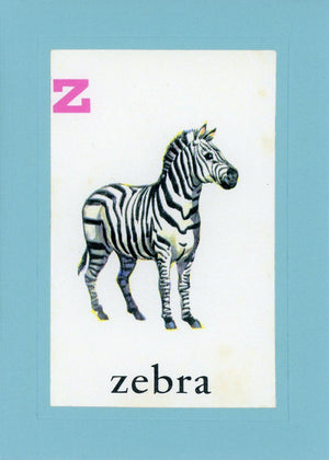 Z is for Zebra - PLYMOUTH CARD COMPANY  - 3