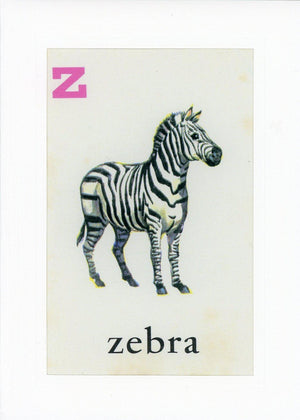 Z is for Zebra-Alphabet Soup-Plymouth Cards