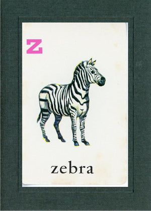 Z is for Zebra - PLYMOUTH CARD COMPANY  - 1
