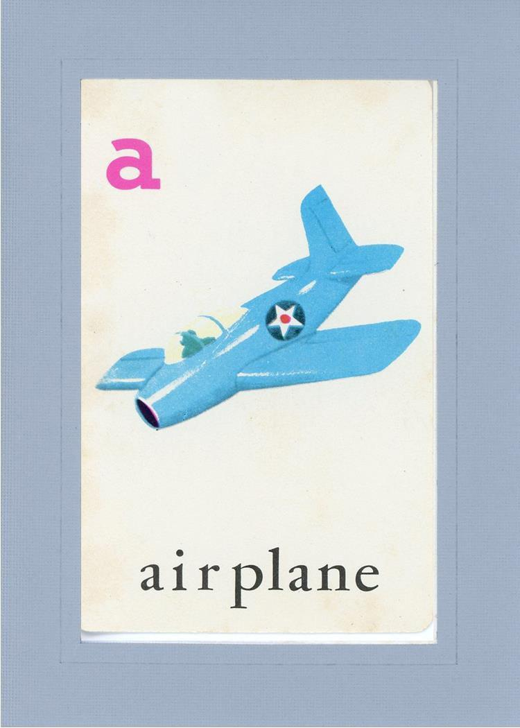 A is for Airplane-Alphabet Soup-Plymouth Cards