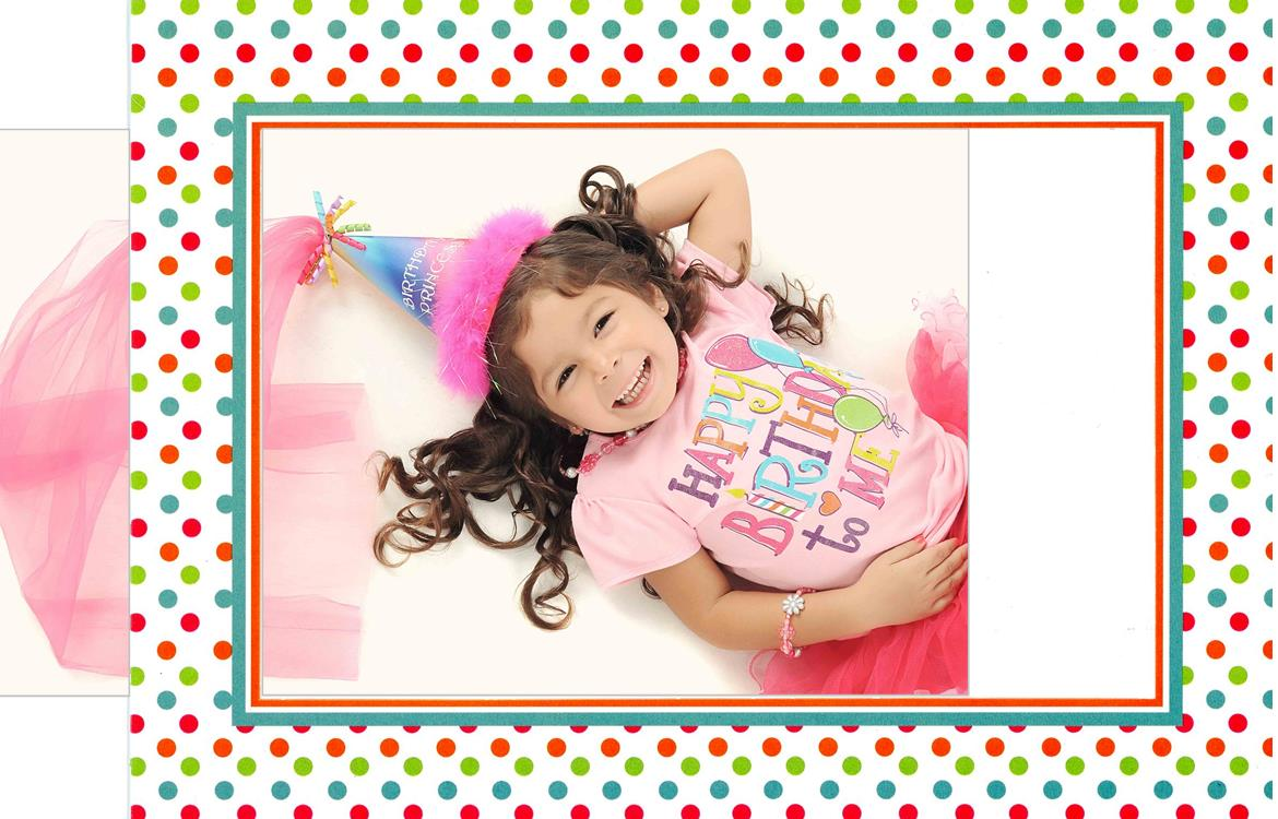Fun Dots Photo Insert Note Cards
