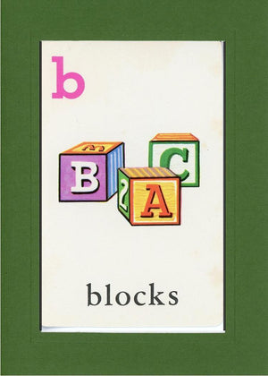 B is for blocks - PLYMOUTH CARD COMPANY  - 9