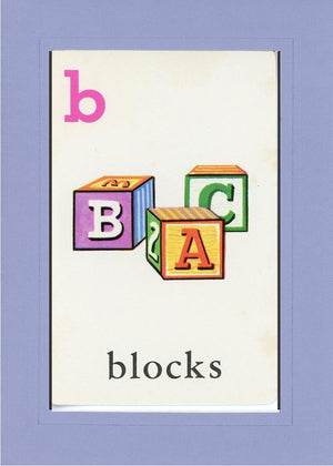 B is for blocks - PLYMOUTH CARD COMPANY  - 17