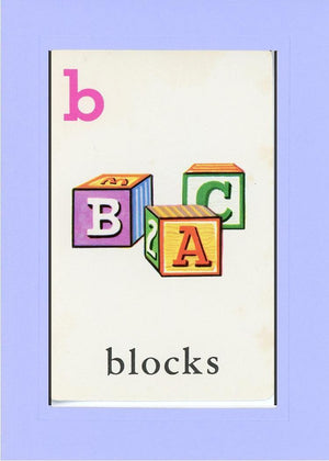 B is for blocks - PLYMOUTH CARD COMPANY  - 18