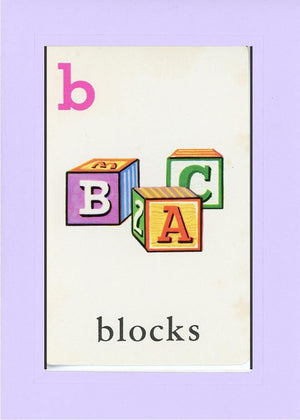 B is for blocks - PLYMOUTH CARD COMPANY  - 14